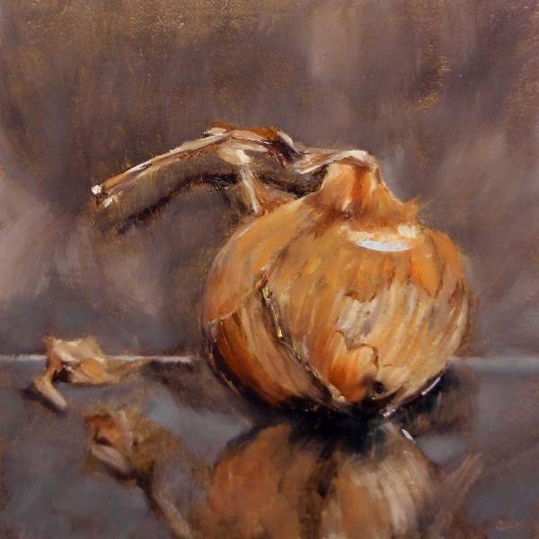 """""""Root Challenge Shallot Or Shall I Not"""" original fine art by Dalan Wells"""