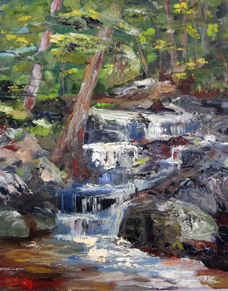 """Mill Stream"" original fine art by Delilah Smith"