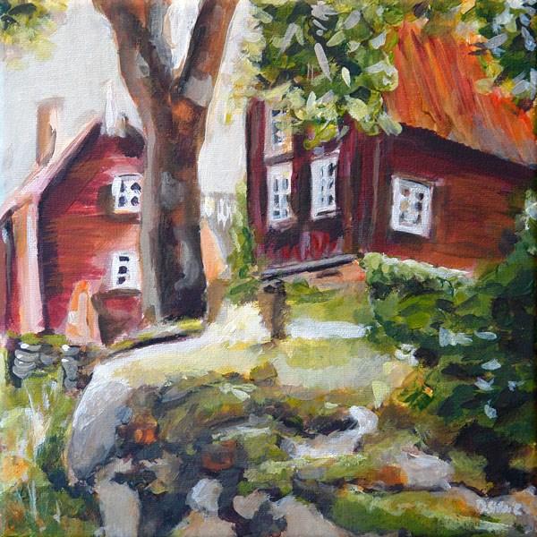 """""""0416 Backyard Romance - Hinterhofromanze"""" original fine art by Dietmar Stiller"""