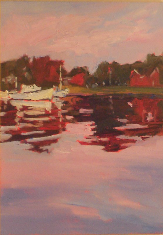 """Small Works: Peaceful Harbor I"" original fine art by Claudia L Brookes"