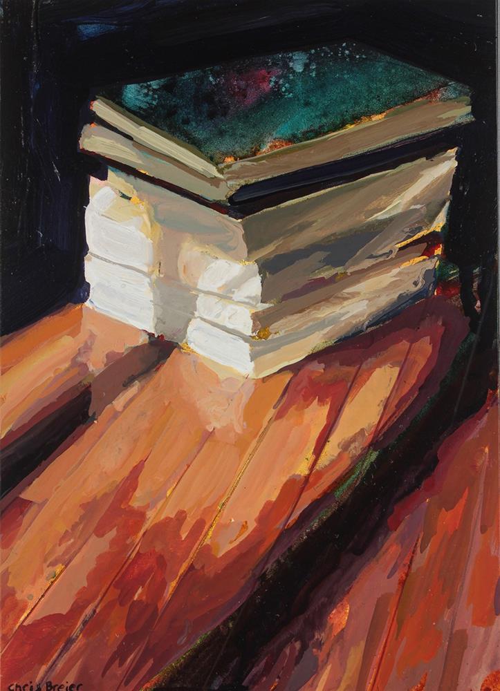 """""""Books I"""" original fine art by Chris Breier"""