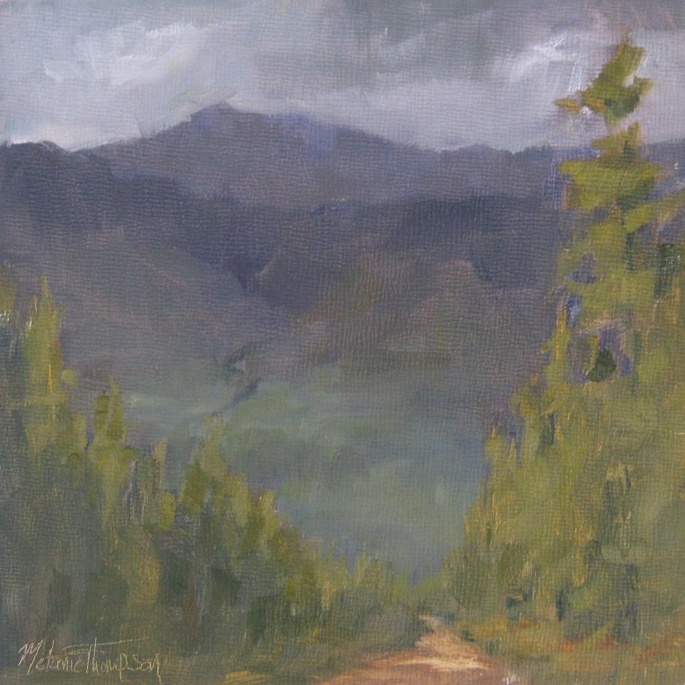 """""""To the Mountains"""" original fine art by Melanie Thompson"""