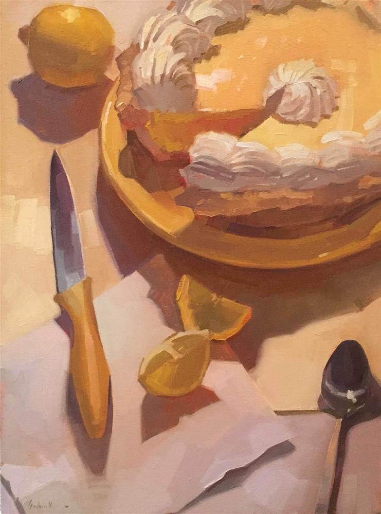 """Lemon Pie"" original fine art by Sarah Sedwick"