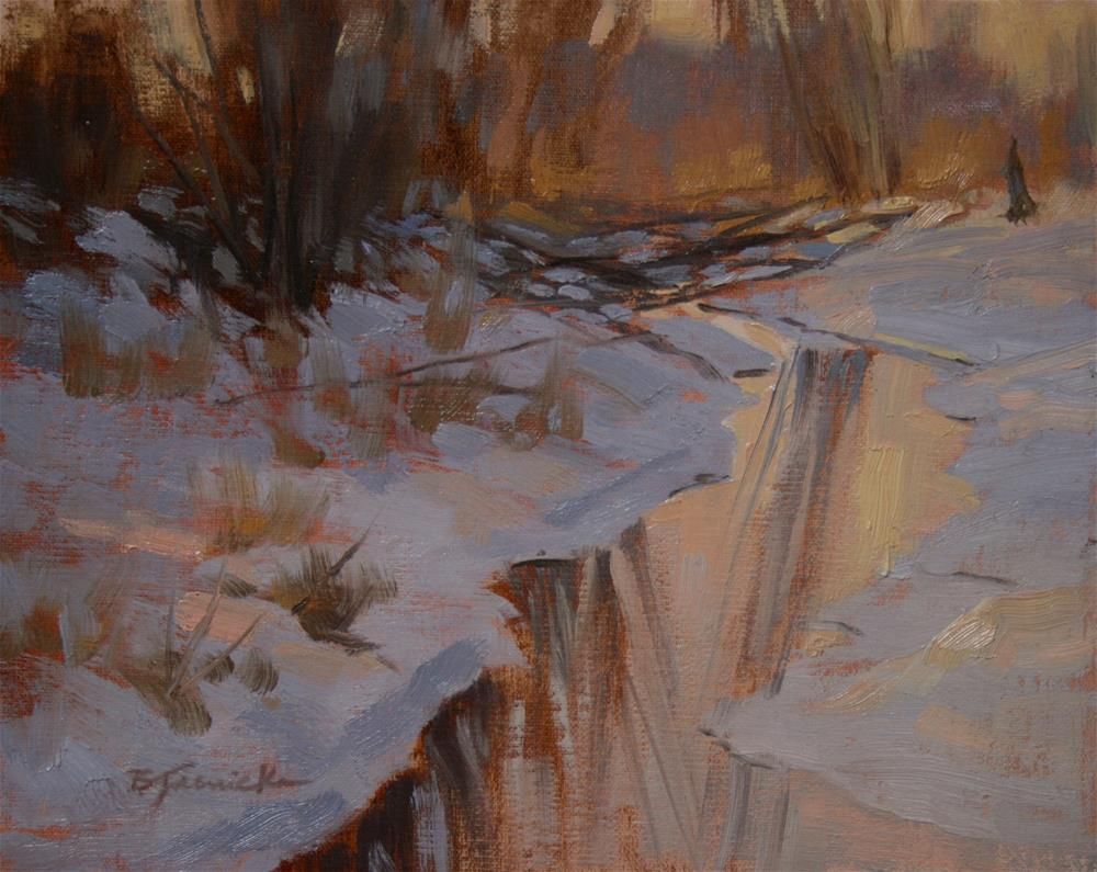 """Winter's Warms and Cools (oil study)"" original fine art by Barbara Jaenicke"