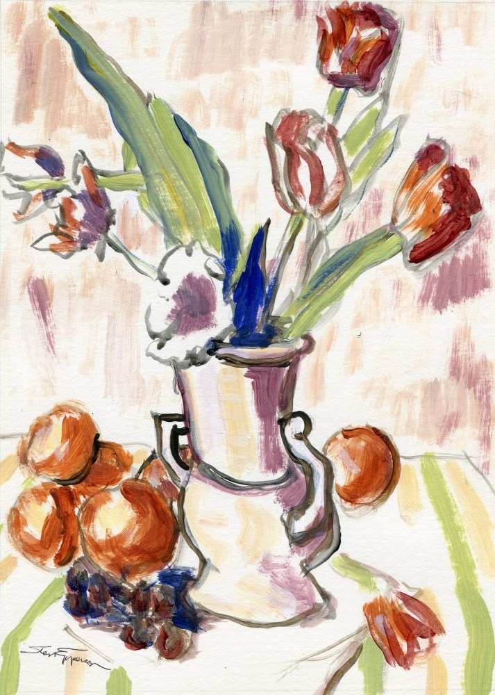 """""""Portly Pot and Friends"""" original fine art by Stanley Epperson"""