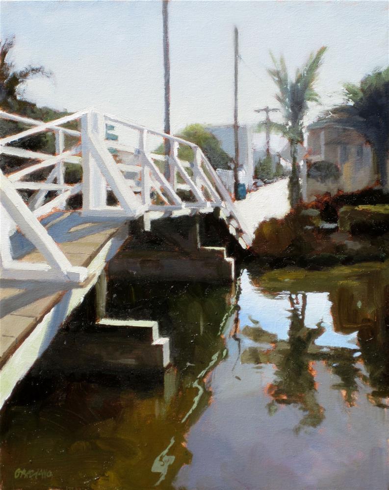 """""""bridge on the canal"""" original fine art by Dan Graziano"""