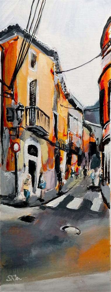 """2398 Palma Streetview 6"" original fine art by Dietmar Stiller"