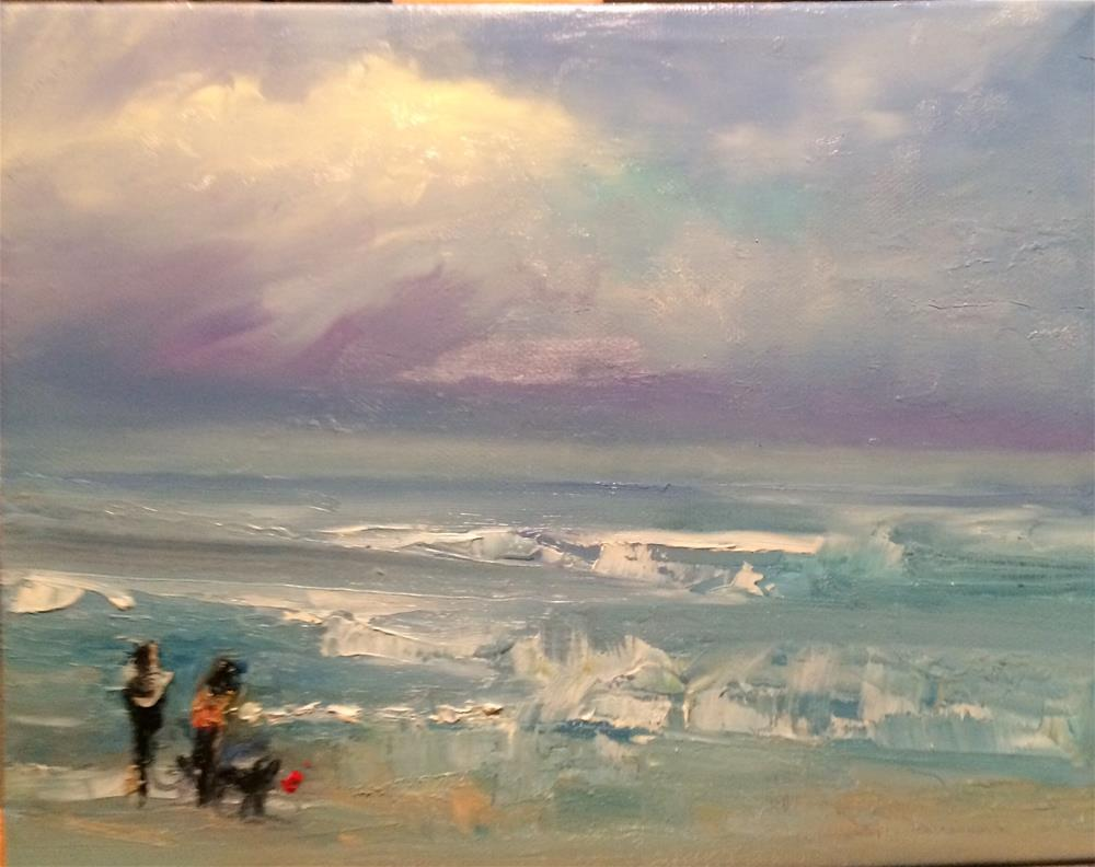 """California Beach"" original fine art by Astrid Buchhammer"