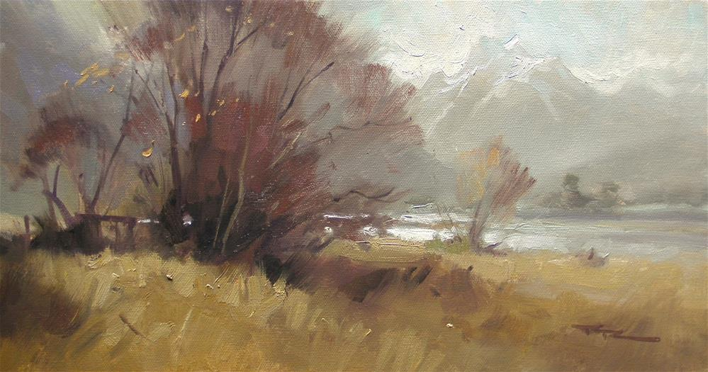 """""""Other Side of the Lake"""" original fine art by Richard Robinson"""