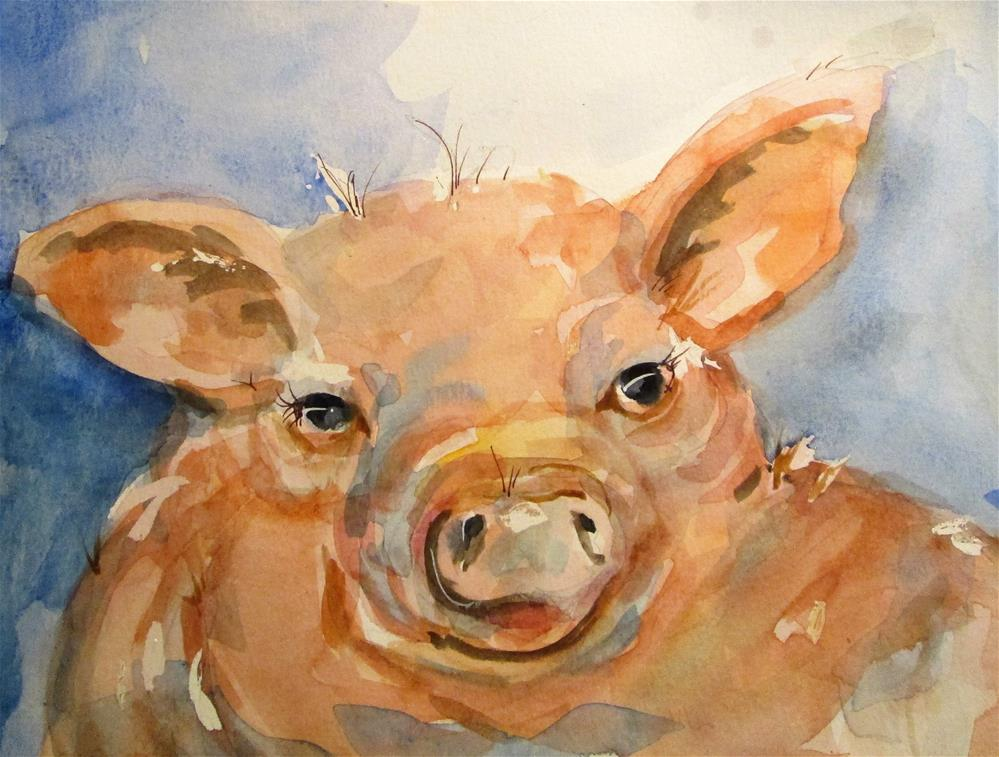 """Little Pig No. 2"" original fine art by Delilah Smith"