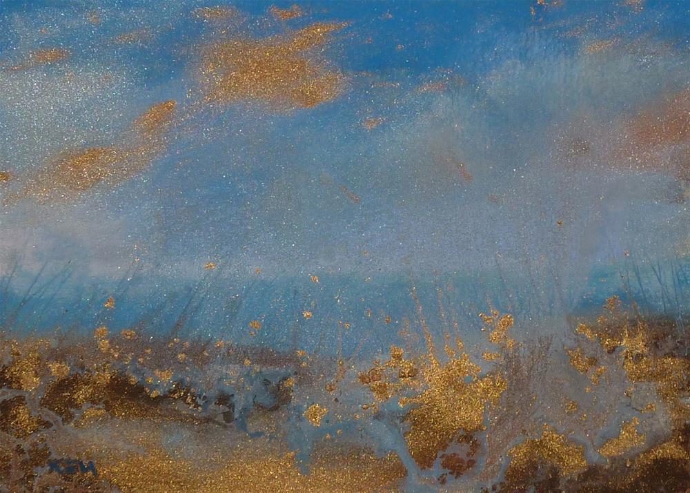 """Using Iridescent  and Metallic Pastels"" original fine art by Karen Margulis"