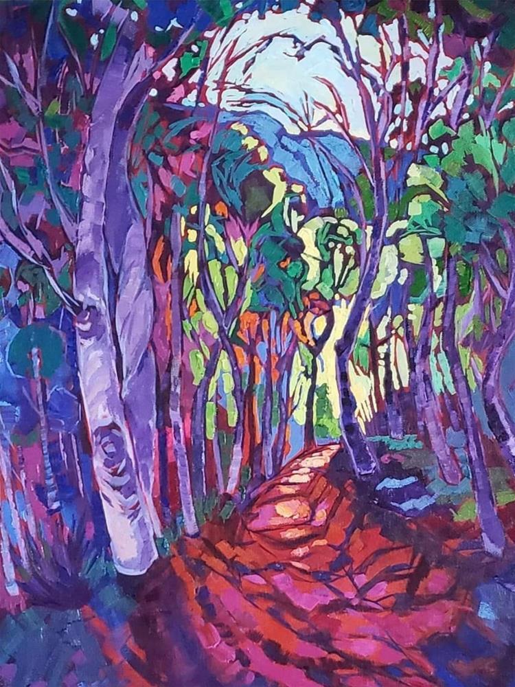 """Crystal Trail"" original fine art by Bhavna Misra"