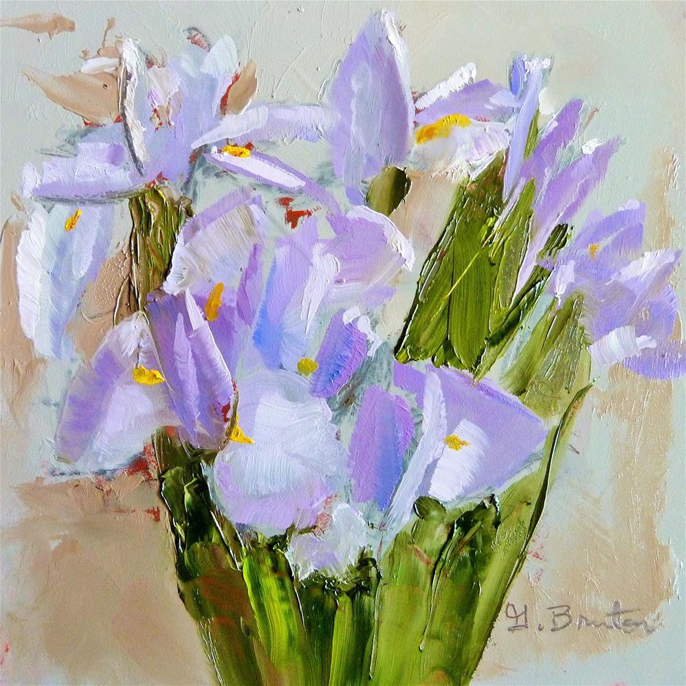 """Abstract Irises"" original fine art by Gary Bruton"
