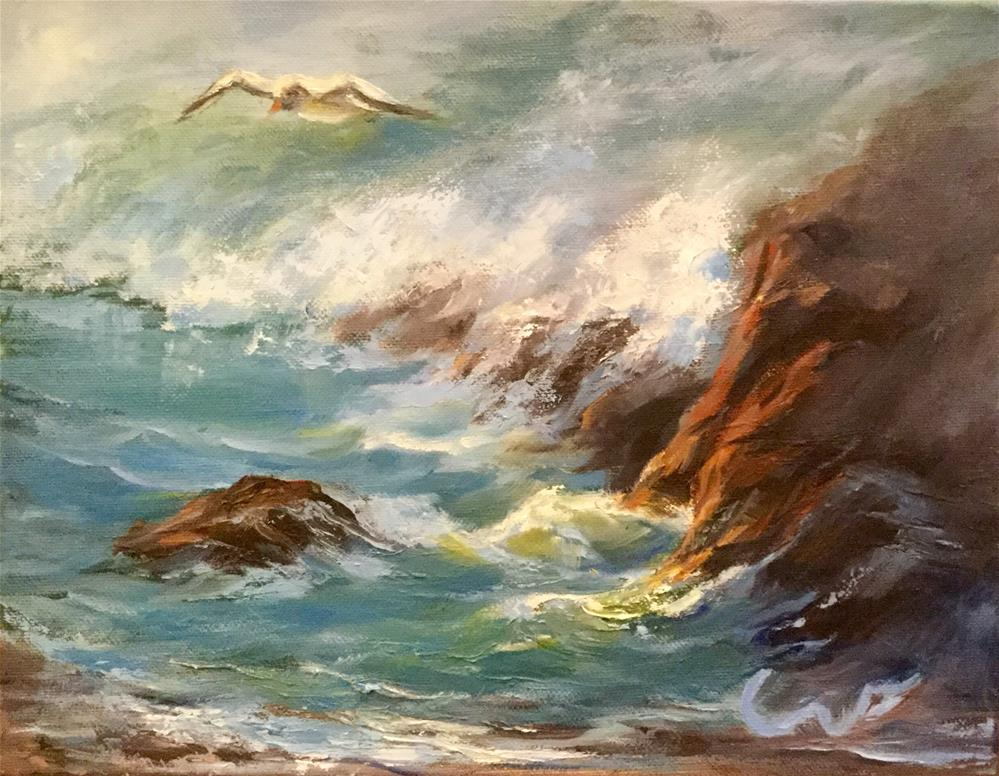 """Gone Coastal"" original fine art by Sharon Abbott-Furze"