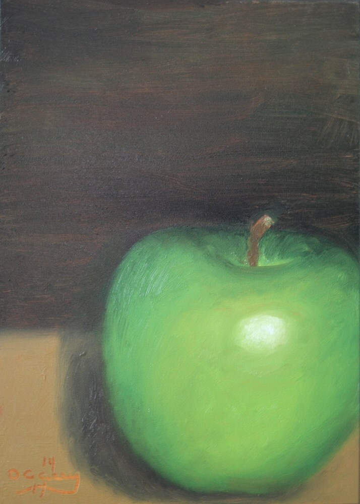 """Kitchen Painting - Granny Smith 002"" original fine art by Dave Casey"