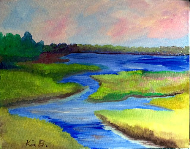 """Beaufort Salt Marsh"" original fine art by Kimberly Balentine"