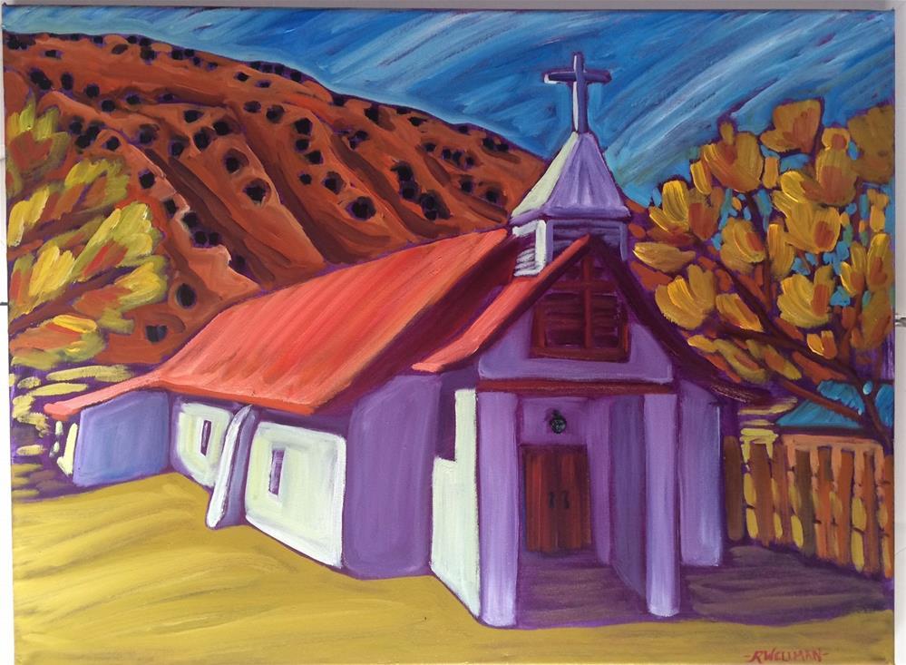 """""""Pilar church"""" original fine art by Robyn Wellman"""