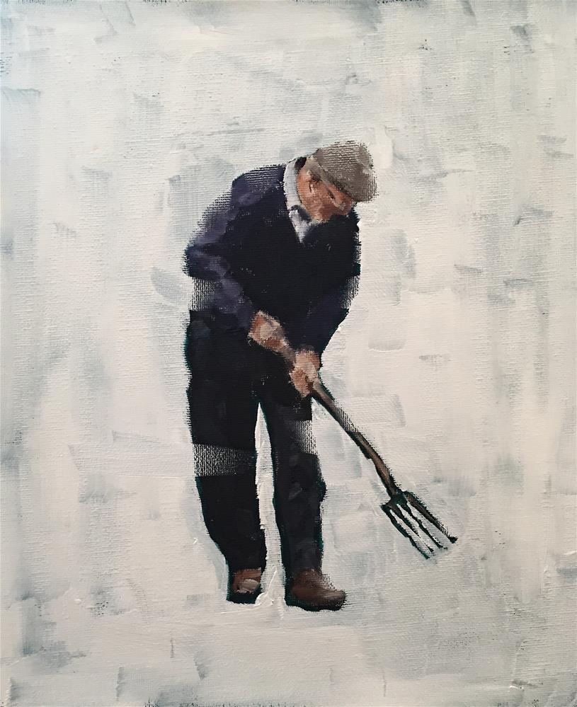"""The Gardener"" original fine art by James Coates"