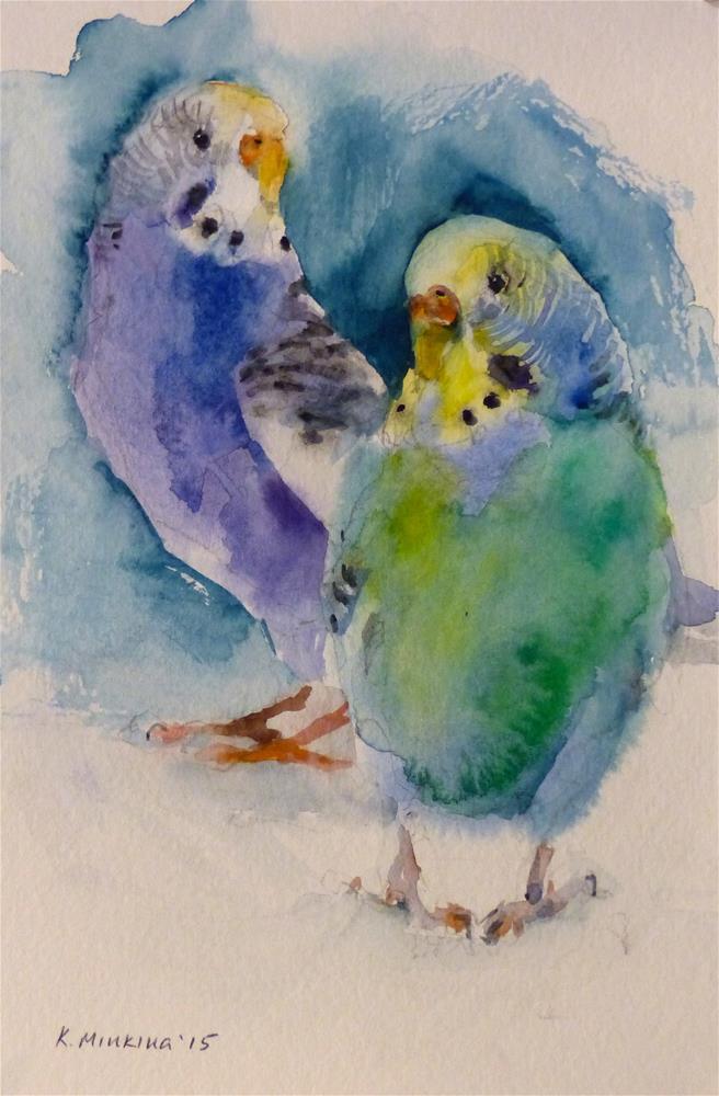 """budgie2"" original fine art by Katya Minkina"