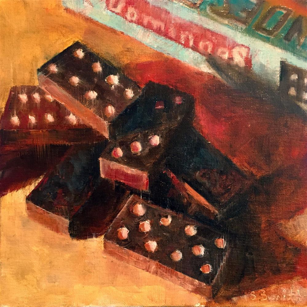 """The Domino  Effect"" original fine art by Sherri Burritt"