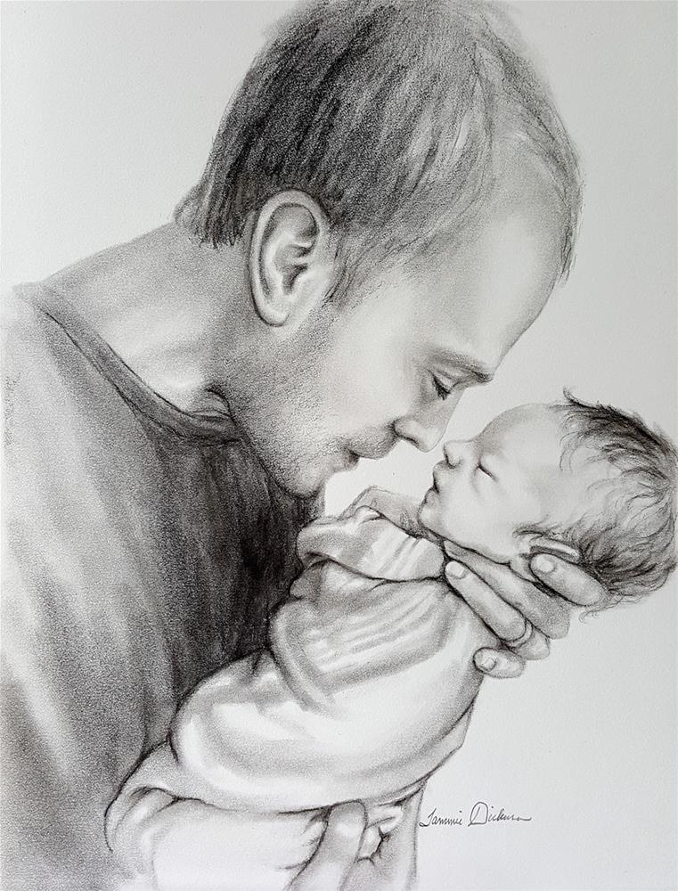 """A Father's Love"" original fine art by Tammie Dickerson"