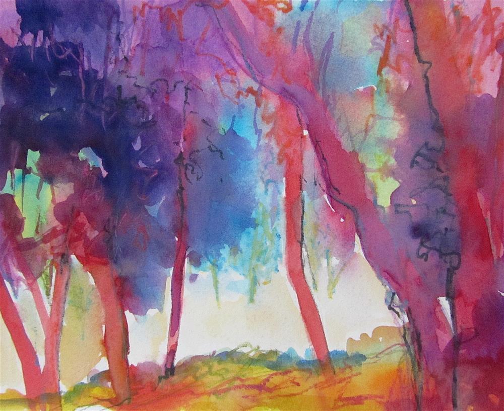 """""""Trees at Les Bassacs"""" original fine art by Patricia MacDonald"""