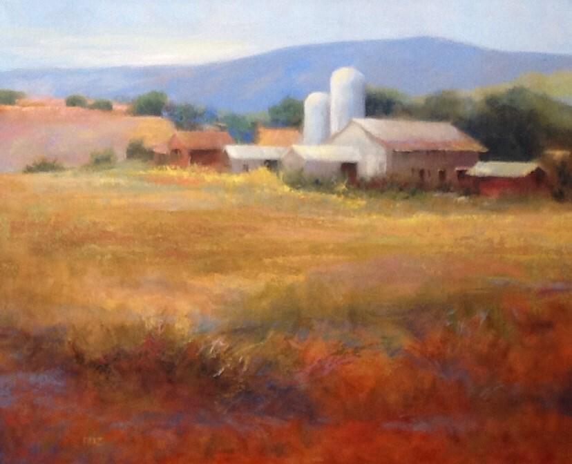 """Autumn Farm"" original fine art by Jean Fitzgerald"