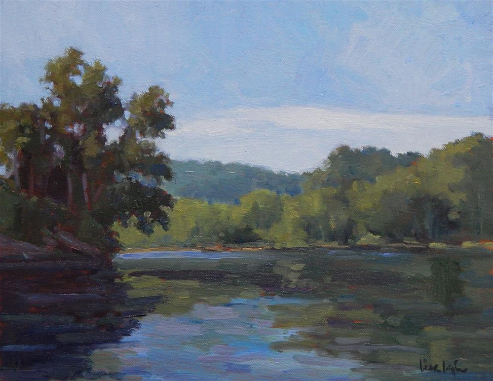 """""""First Morning on the River"""" original fine art by Lisa Kyle"""