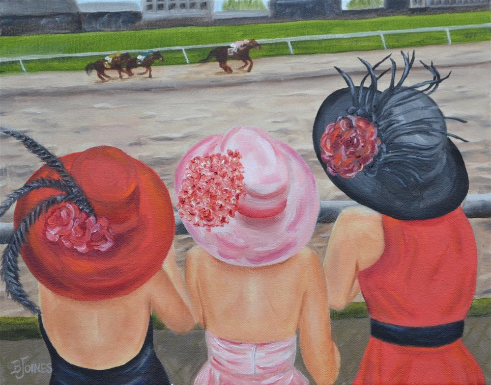 """""""Every Hat Has Her Day"""" original fine art by Barbara Gillis Joines"""