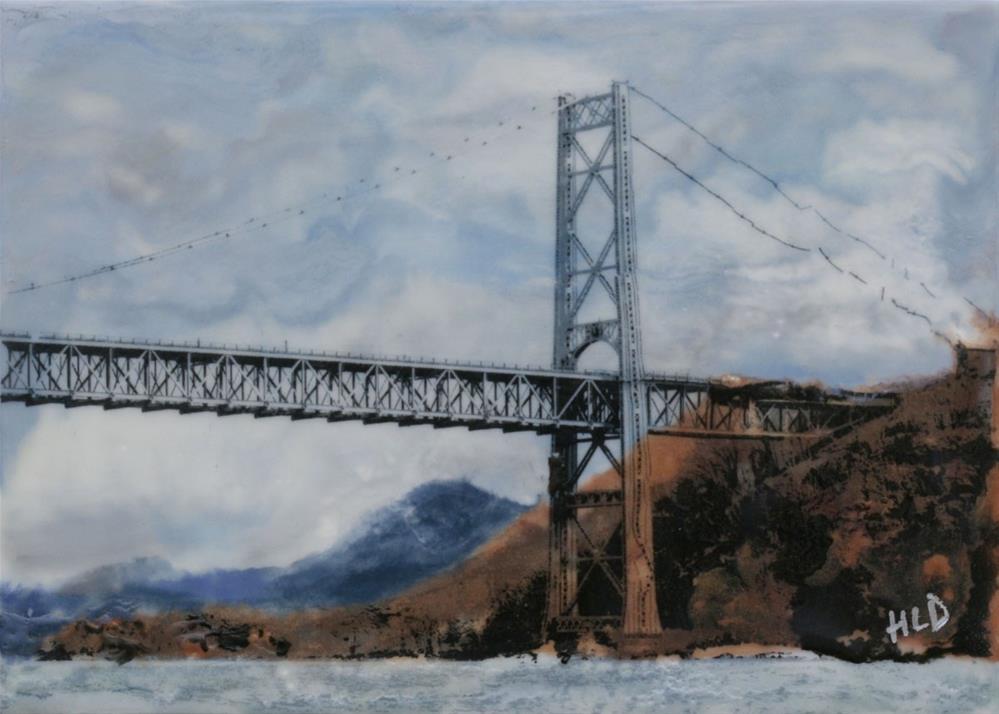 """Bear Mountain Bridge"" original fine art by Heather Douglas"