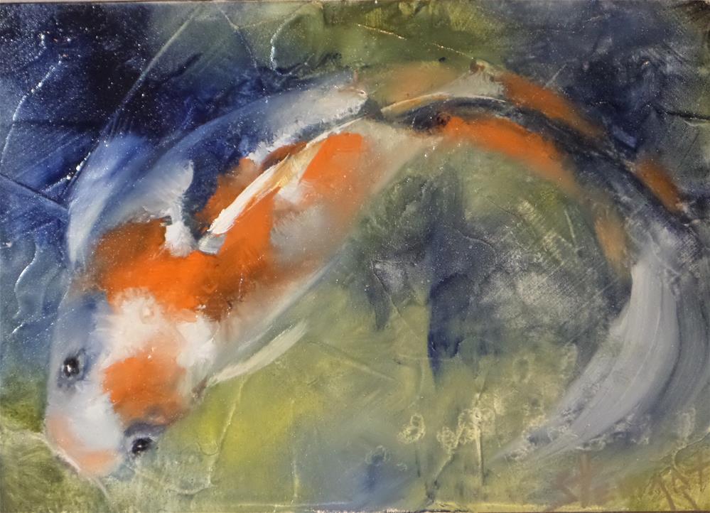"""Something Fishy"" original fine art by Kris Stewart"