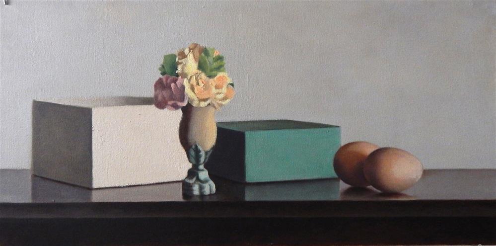 """Still Life with Green Box"" original fine art by Megan Schembre"