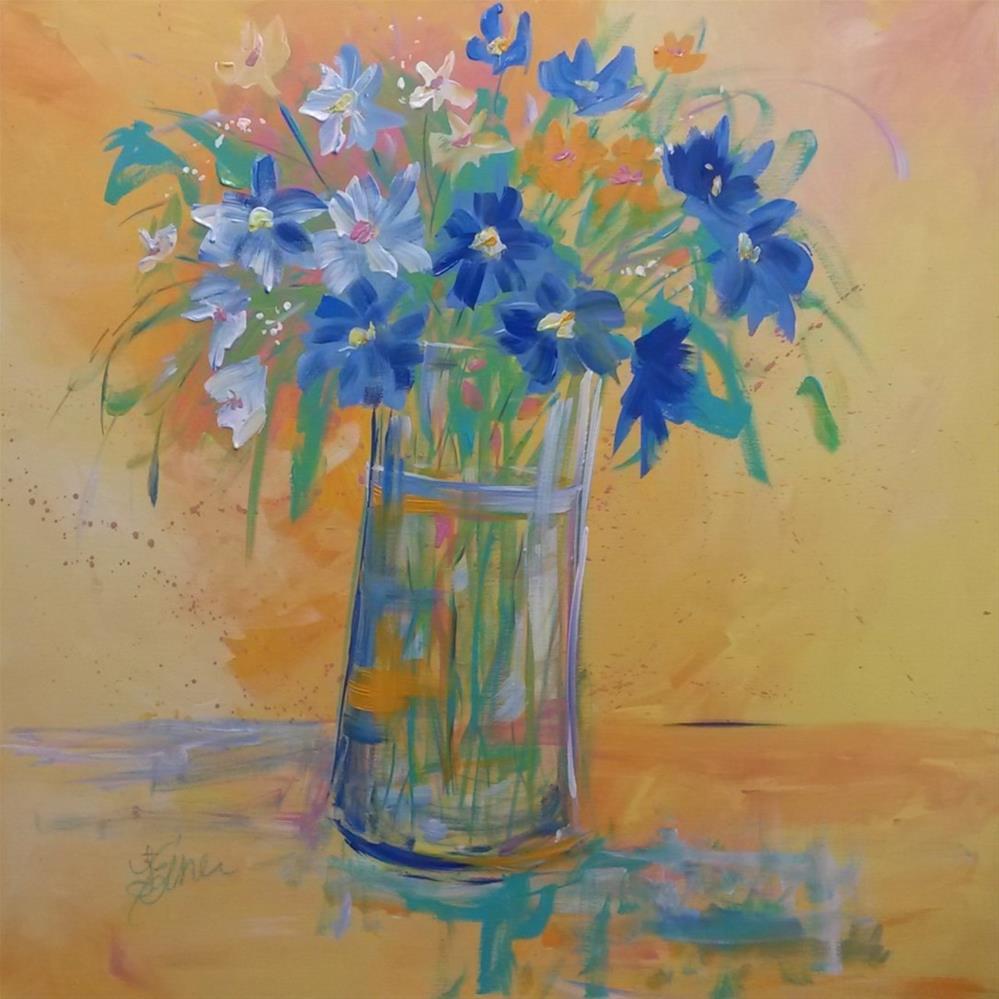"""Sing Me the Blues"" original fine art by Terri Einer"