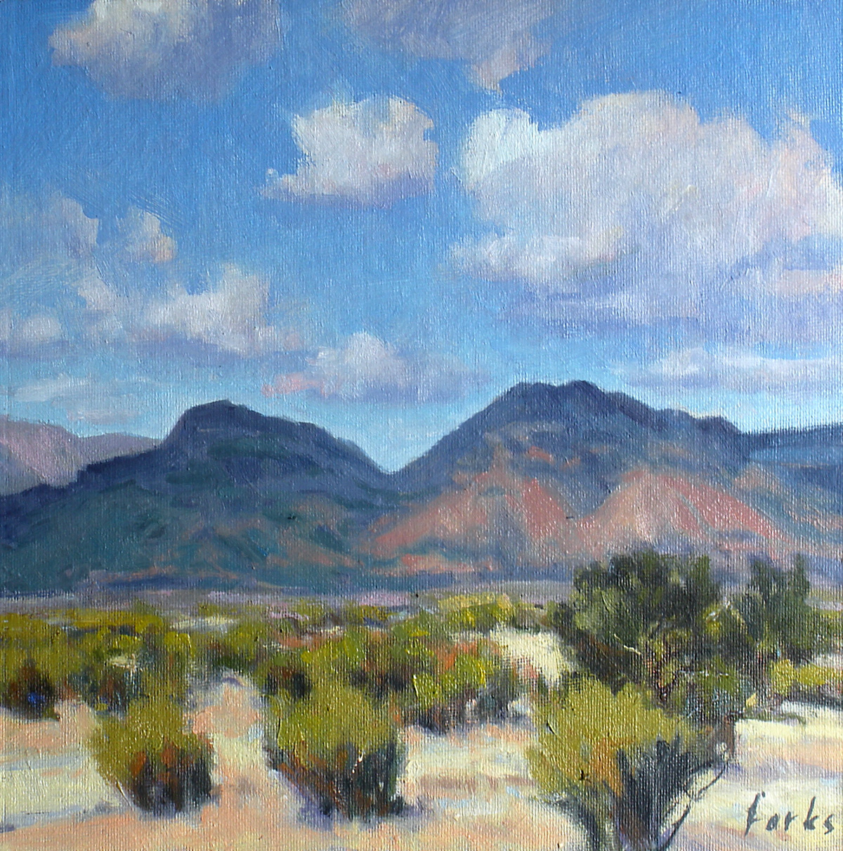 """""""Mountains and Clouds"""" original fine art by David Forks"""