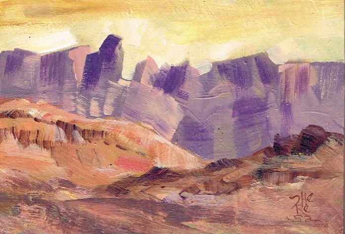 """Sierra del Carmen, Big Bend Texas"" original fine art by Theresa Taylor Bayer"