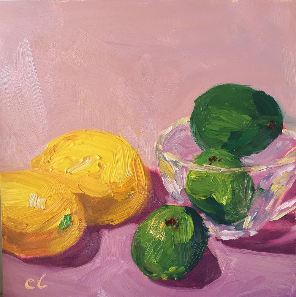 """Limes v. Lemons"" original fine art by Cheree Apalona Lueck"