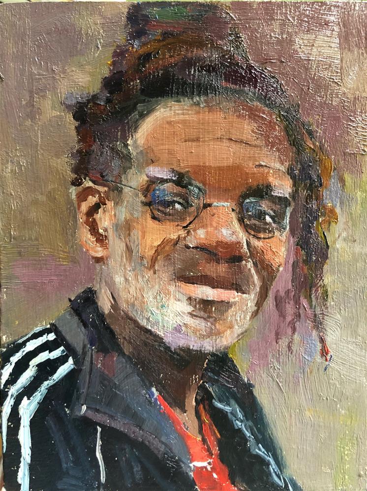 """""""The Face of Homelessness Trafalgar Square"""" original fine art by Adebanji Alade"""
