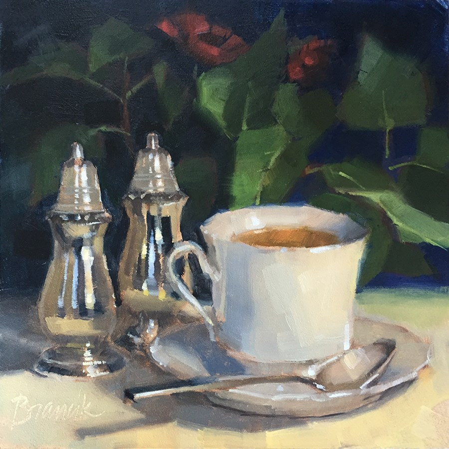 """Tea in the Parlor"" original fine art by Candace Brancik"