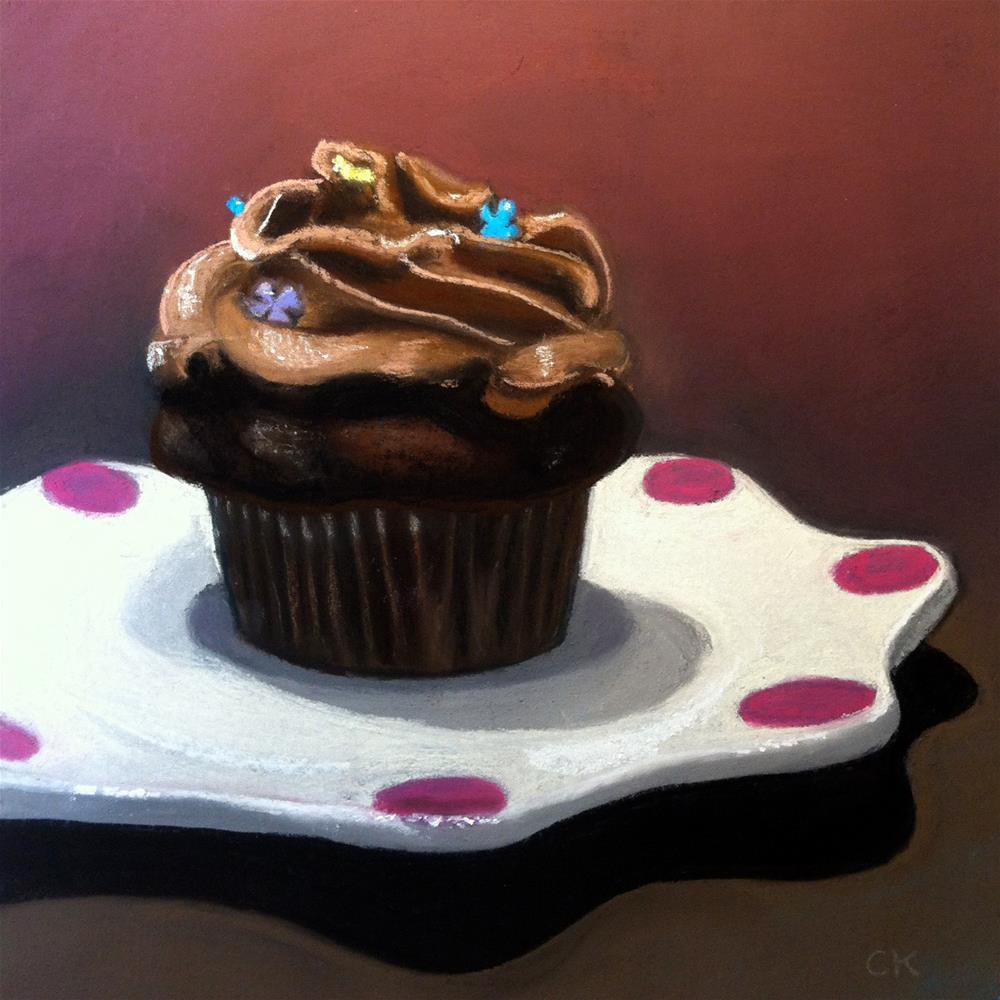 """Chocolate Cupcake"" original fine art by Cristine Kossow"