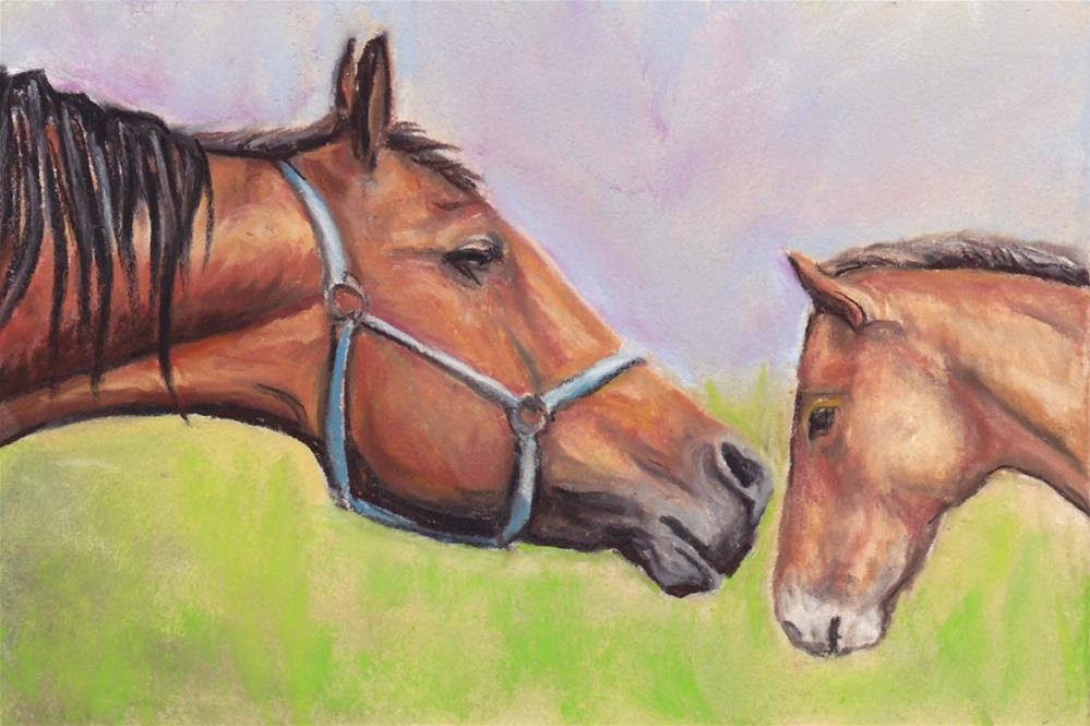 """Hush Little Baby - Pastel"" original fine art by Charlotte Yealey"