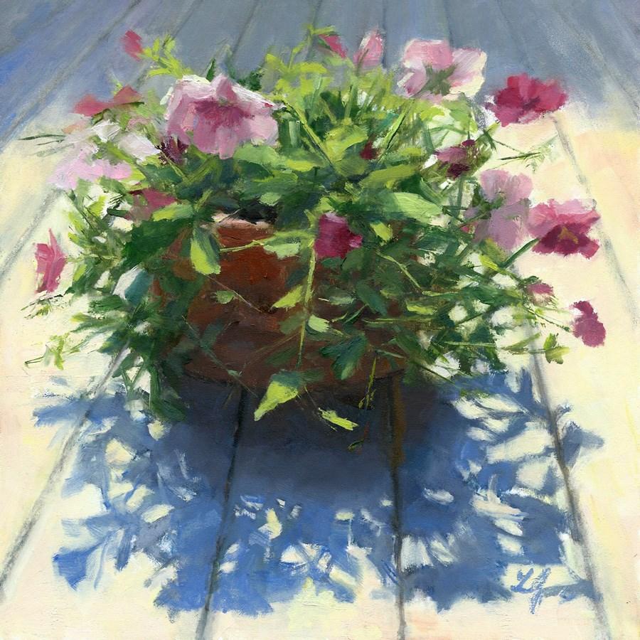 """Pansies"" original fine art by Linda Jacobus"