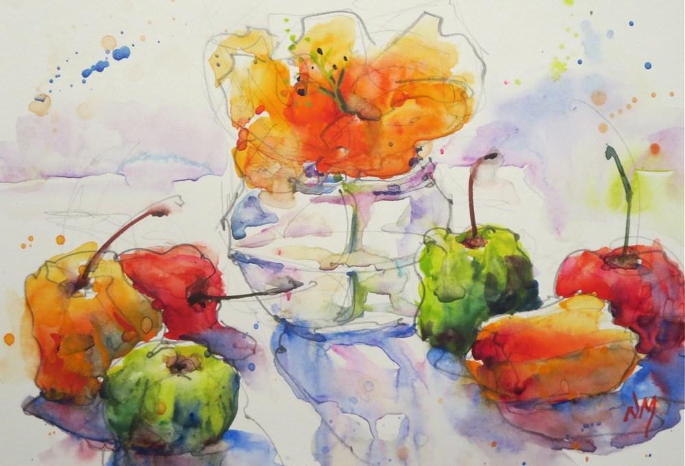 """shadow watchers"" original fine art by Nora MacPhail"