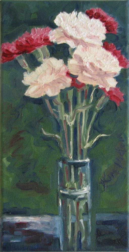 """""""Carnations in a Glass"""" original fine art by Kim Victoria"""