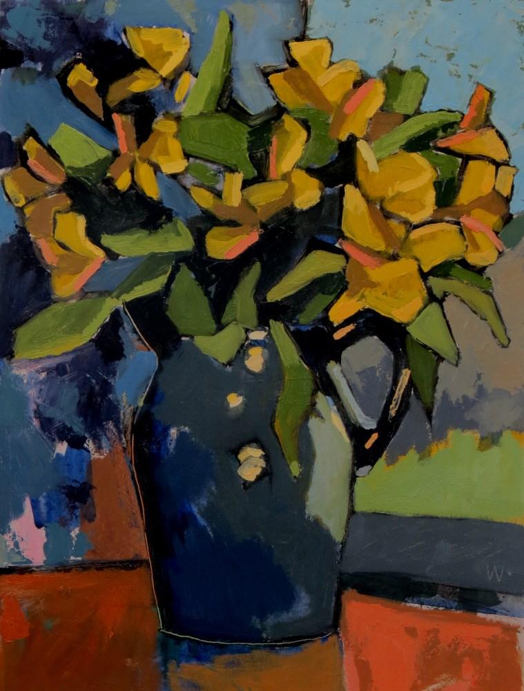 """Birthday Flowers"" original fine art by Joan Wiberg"