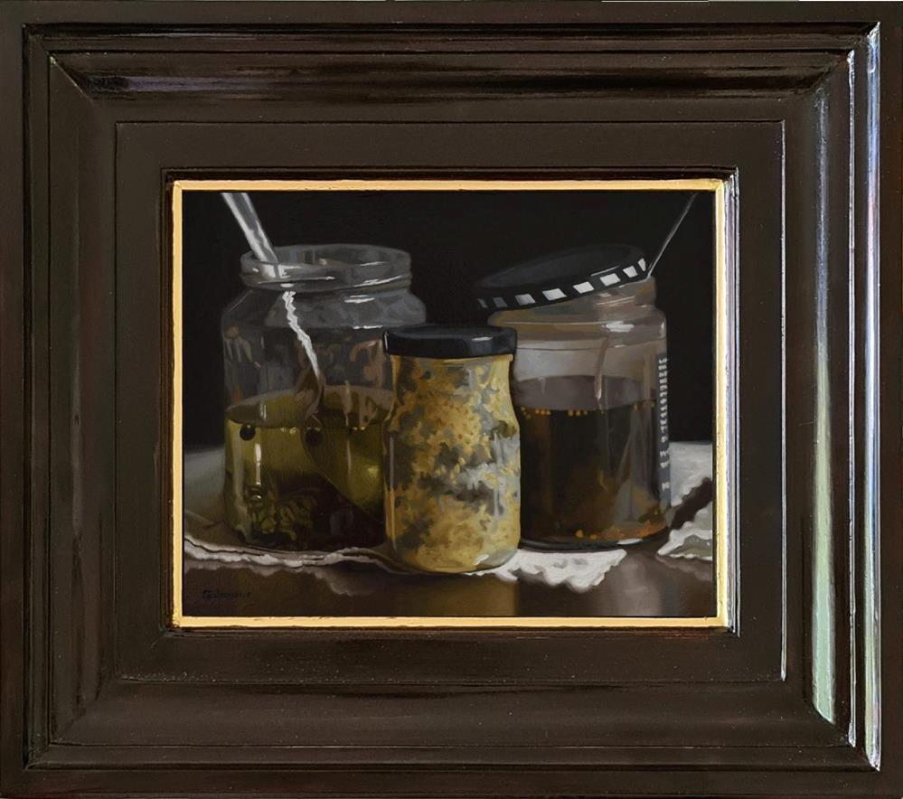 """Three Jars"" original fine art by M. Gilmour"