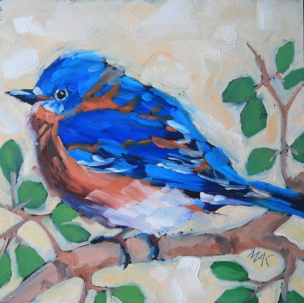 """""""Mr. Blue"""" original fine art by Mary Anne Cary"""