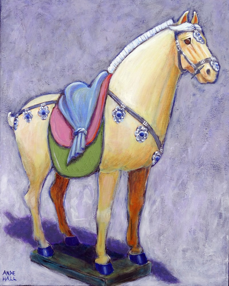 """Palomino Tang"" original fine art by Ande Hall"