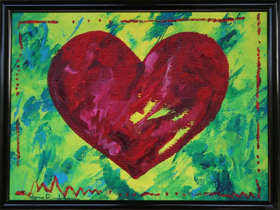 """Heart Of Hearts"" original fine art by Jana Johnson"