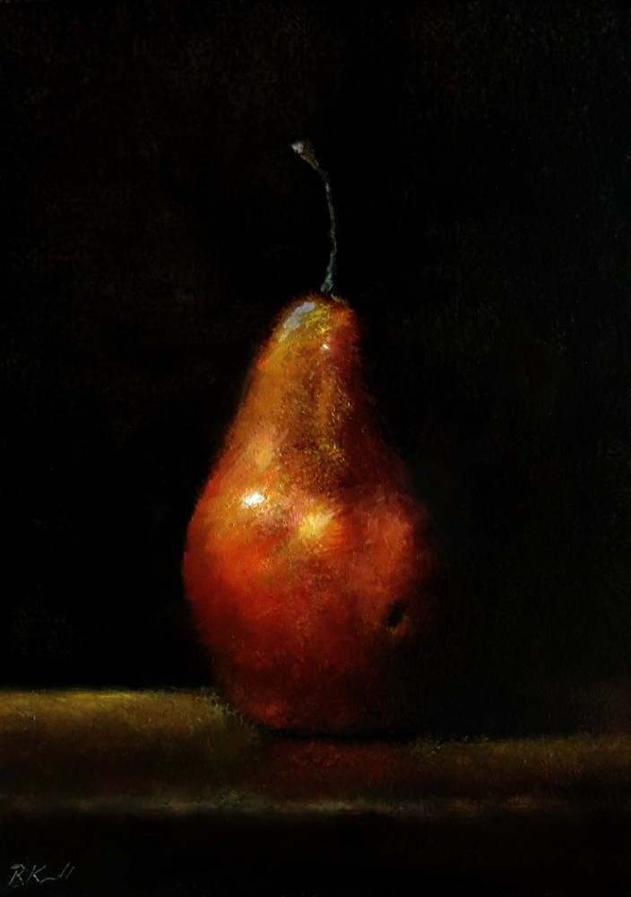 """A Pear"" original fine art by Bob Kimball"