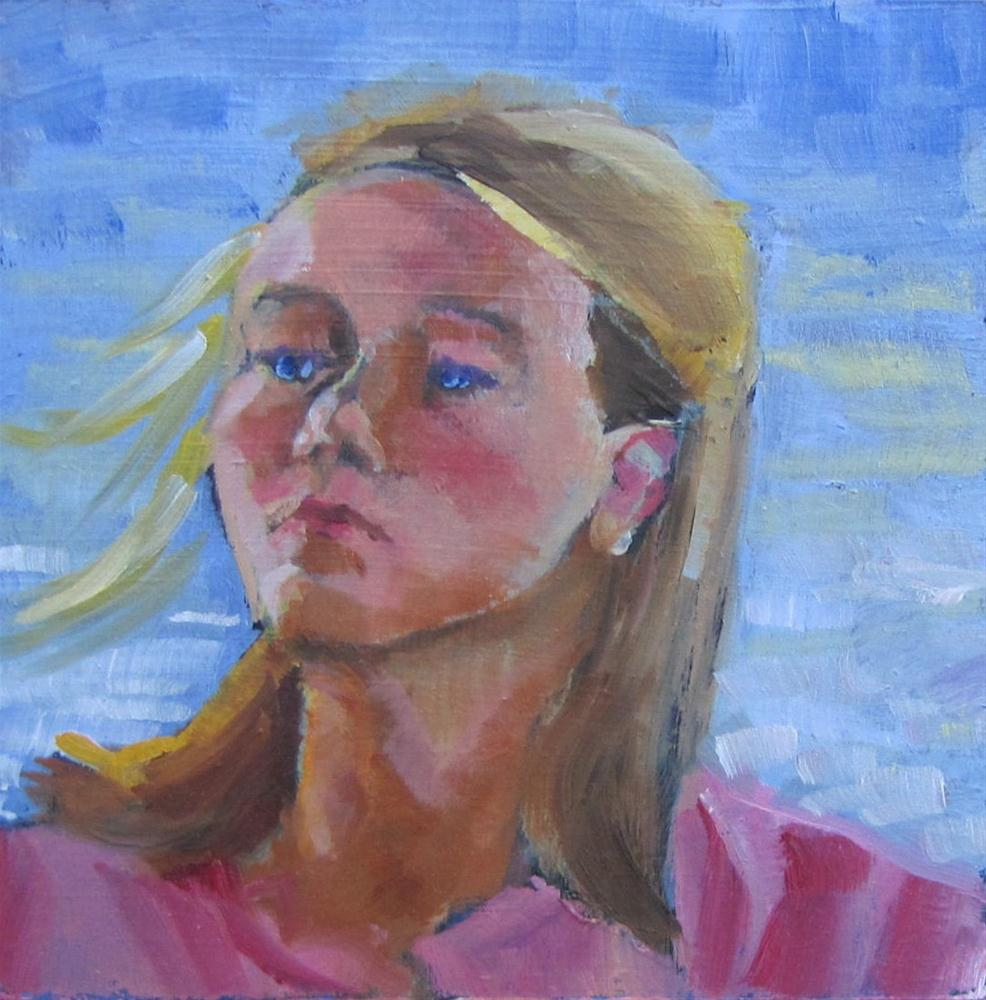 """""""Sammy  4x4  oil sold"""" original fine art by Christine Holzschuh"""